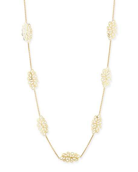 Miseno Sealeaf Collection 18k Yellow Gold Necklace