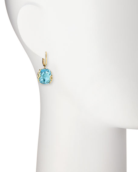 Sealeaf Collection Blue Topaz Earrings