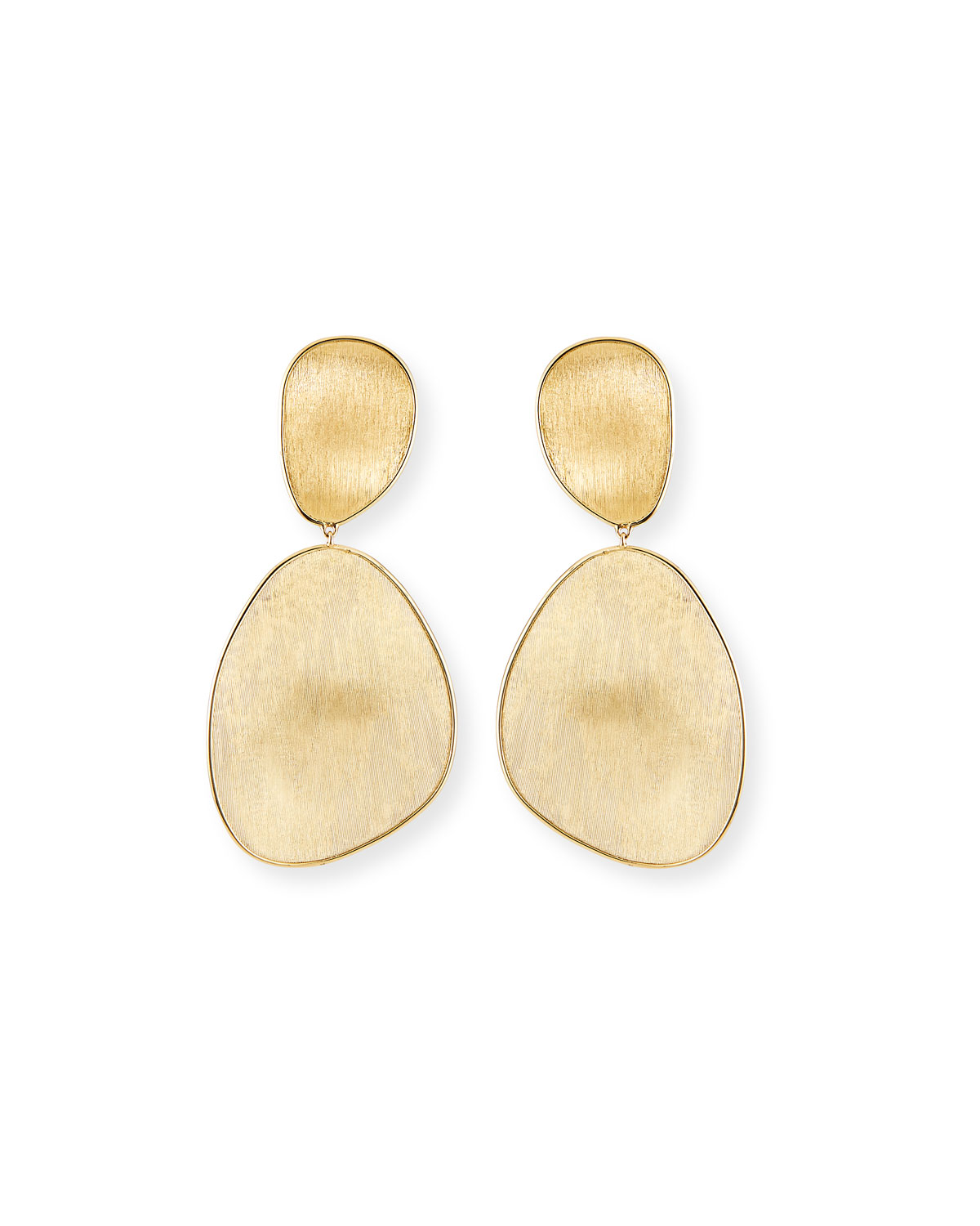 Marco Bicego Lunaria Large Drop Earrings with White Mother-of-Pearl & Diamonds, 1.06 tdcw