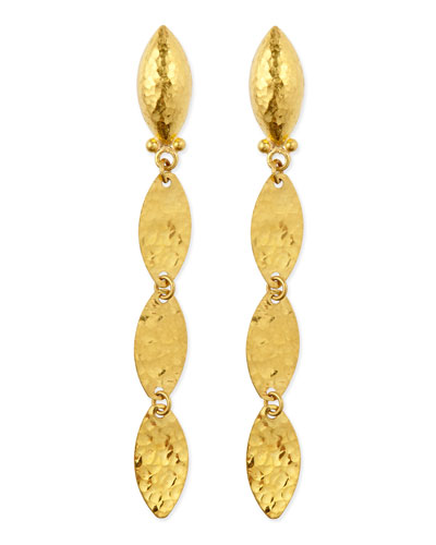 Willow 24k Gold Triple-Drop Earrings