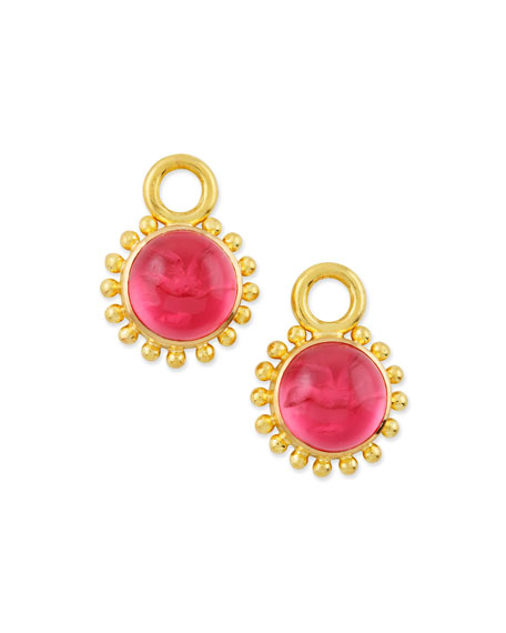 Elizabeth Locke Pink Tiny Griffin Intaglio Earring Pendants