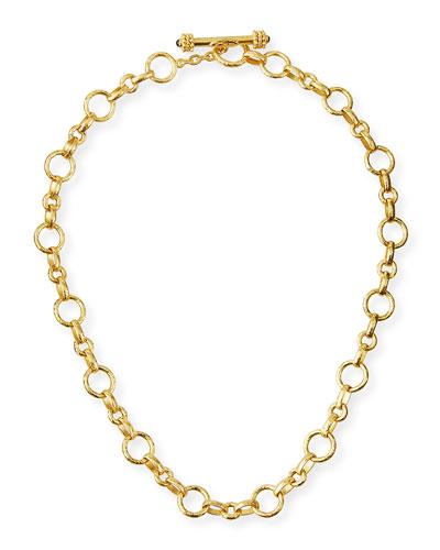 Siena Gold 19k Link Necklace  17L
