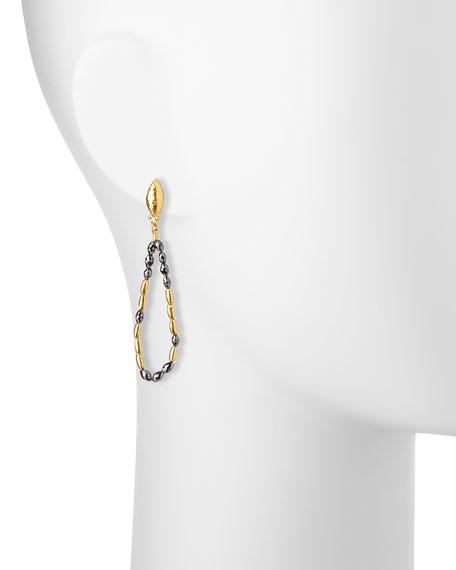 Gurhan Dark Mist 24k Black Diamond Tipsy Earrings