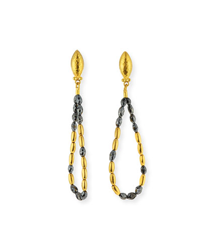 Dark Mist 24k Black Diamond Tipsy Earrings