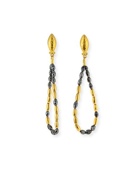 Dark Mist 24k Black Diamond Tipsy Earrings