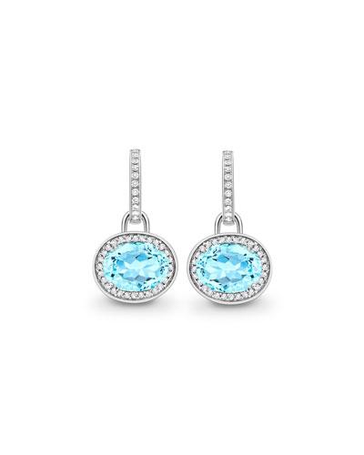 Classic Blue Topaz Diamond Earrings