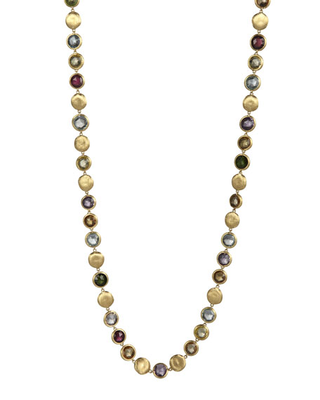 """Marco Bicego Jaipur Mixed-Stone Link Necklace, 30""""L"""
