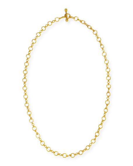 "Riviera 19k Gold Link Necklace, 31""L"