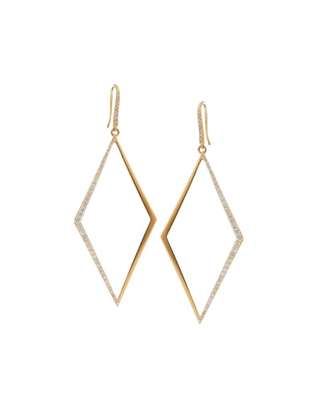Flawless Vol. 2 Diamond-Shape Hoop Earrings