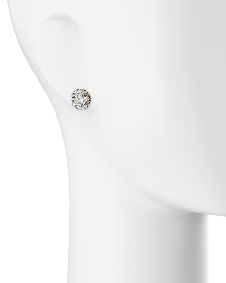 Estate Edwardian Filigree Diamond Solitaire Stud Earrings