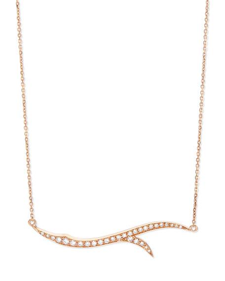 Stephen Webster 18k Rose Gold & Diamond Thorn Pendant Necklace