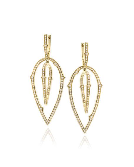 Thorn Detachable-Drop Diamond Earrings