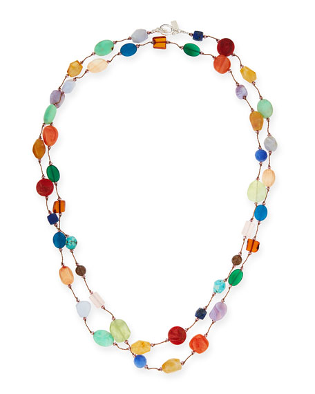 "Carnival Multi-Stone Long Necklace, 53""L"