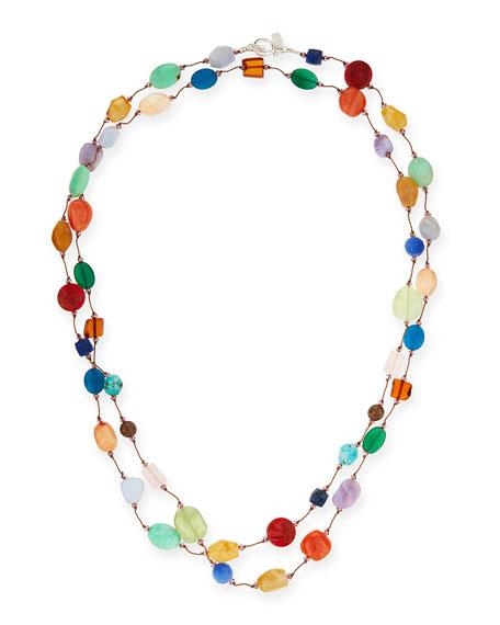 Margo Morrison Carnival Multi-Stone Long Necklace, 53