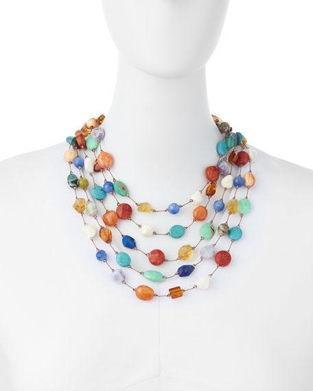 Margo Morrison Carnival Five-Strand Multi-Stone Necklace