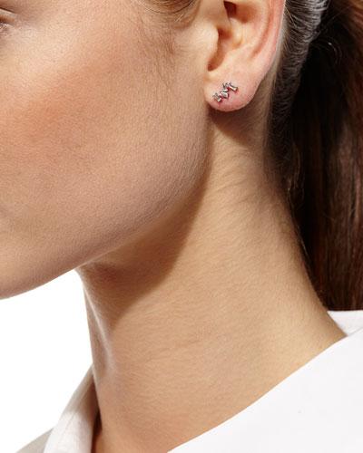 Diamond Baguette Climber Earrings