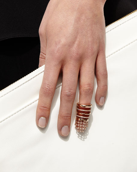 Yeprem Camouflage Rose Gold & Diamond Flex Ring