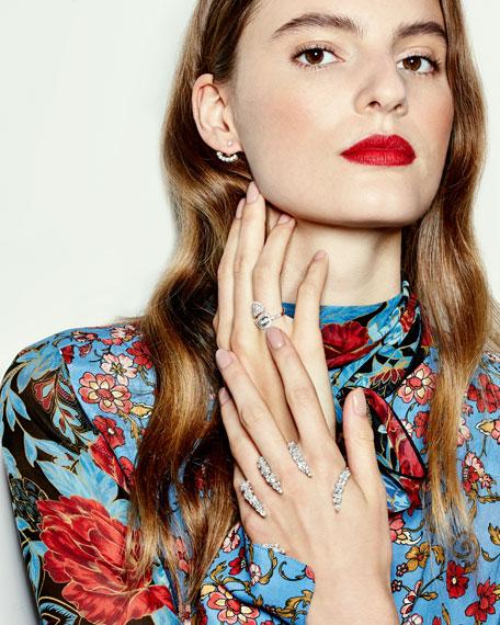 Yeprem The Claw 18k White Gold Diamond Hand Bracelet