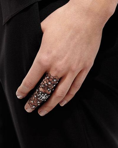 Moresca Blackened White Gold & Diamond Ring