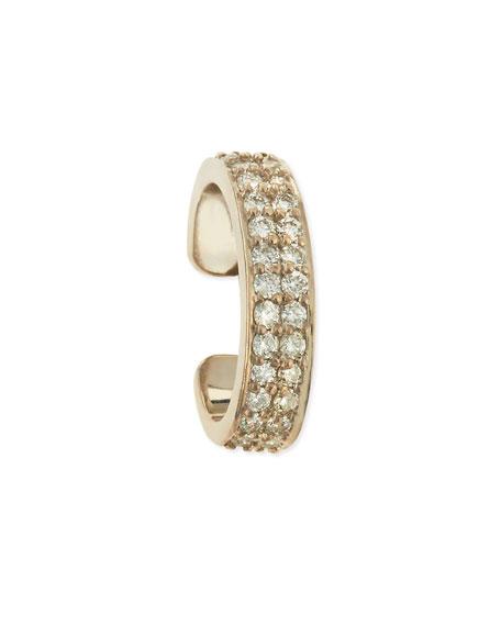 Anita Ko 18k White Gold Diamond Double-Row Ear