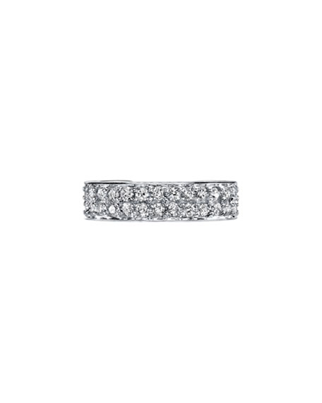 18k White Gold Diamond Double-Row Ear Cuff, Each
