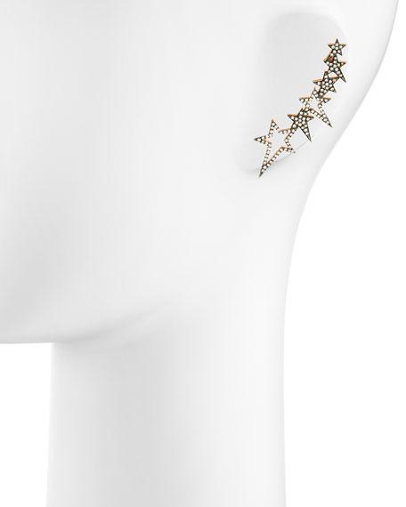 White Diamond Star Ear Cuff