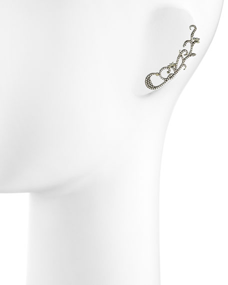 White Diamond Vine Ear Cuff