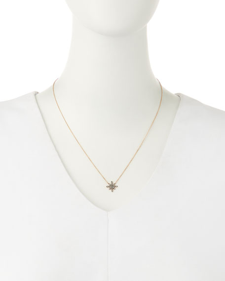 White Diamond Starburst Necklace