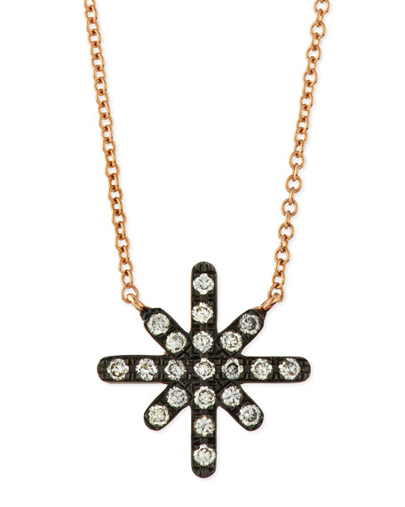 Diane Kordas White Diamond Starburst Necklace