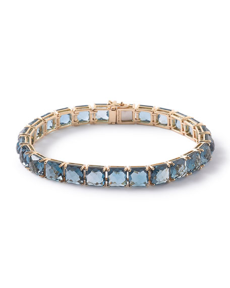 Ippolita 18k Rock Candy Tennis Bracelet in London Blue Topaz