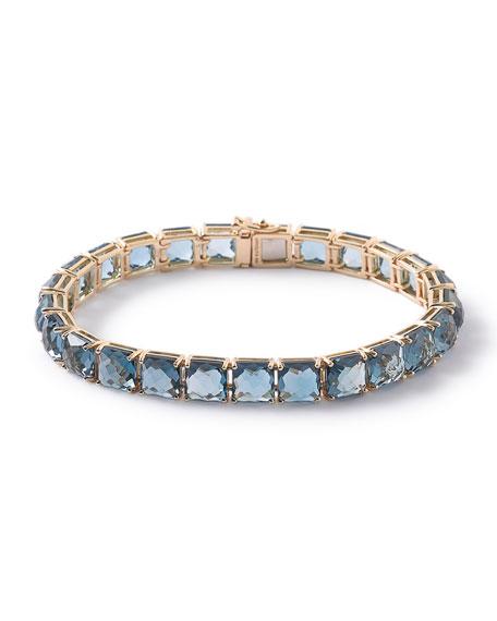 Ippolita 18k Rock Candy Tennis Bracelet in London Blue Topaz