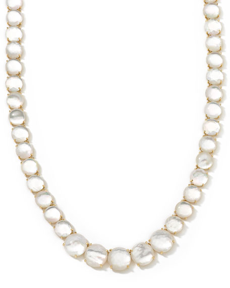 18k Gelato Mother-of-Pearl Collar Necklace