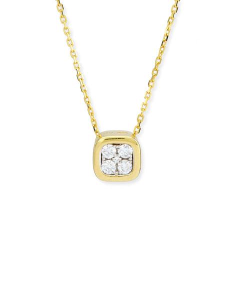 Firenze Mini Diamond Pendant Necklace