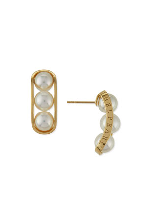Belpearl Kobe 18k Akoya Pearl Earrings