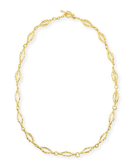 Eli Jewels Aegean 18k Gold Sculpt-Chain Necklace