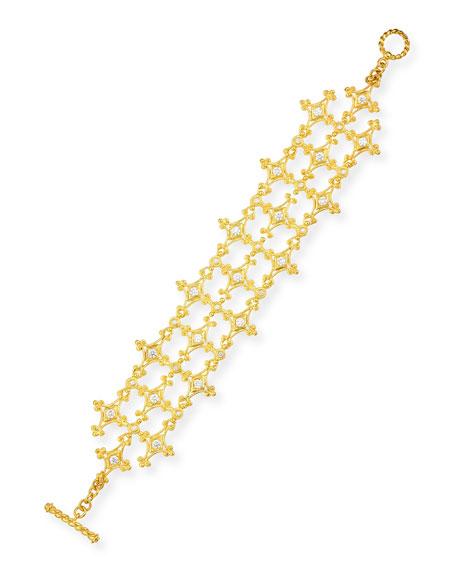 Eli Jewels Aegean Collection 18k Diamond Bracelet