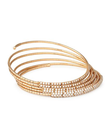 Cielo Venezia 1270 Five-Row Diamond Wrap Bracelet