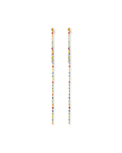 Affinity Multicolor Sapphire Detachable-Drop Earrings, 9
