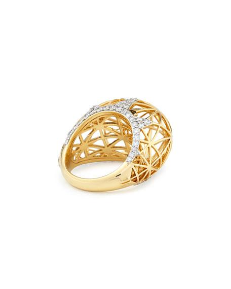 Ivanka Trump 18k Liberte Dome Ring with Diamonds