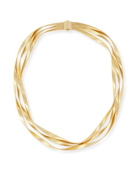 Marco Bicego Marrakech 18k Three-Strand Necklace