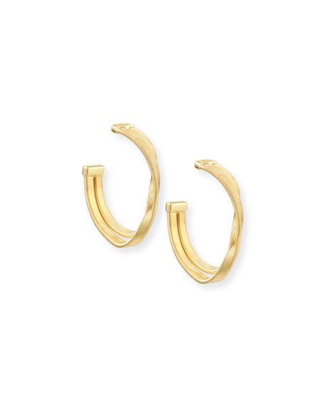 Marrakech 18k Two-Strand Hoop Earrings