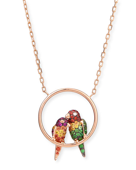 Boucheron Nuri the Cockatoo 18k Rose Gold Pendant