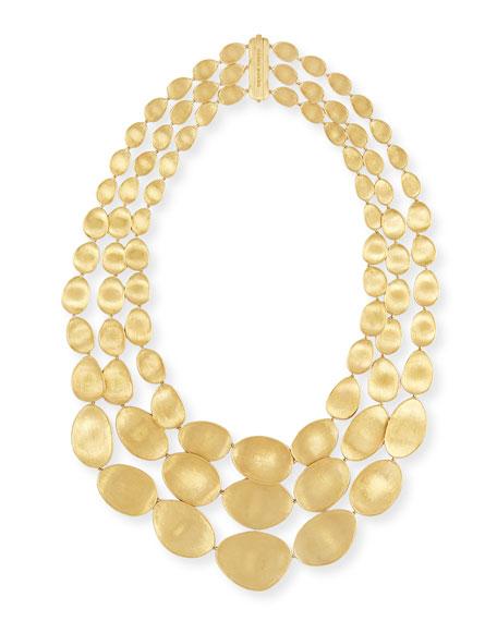 Lunaria 18k Gold Three-Strand Necklace