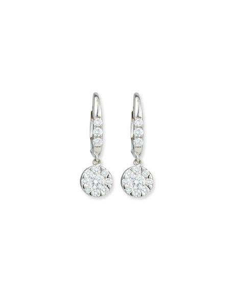 Rina Limor Flower Diamond Dangle Earrings