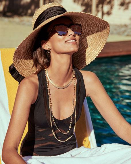 """Marrakech 18k Gold Single Strand Necklace, 36""""L"""