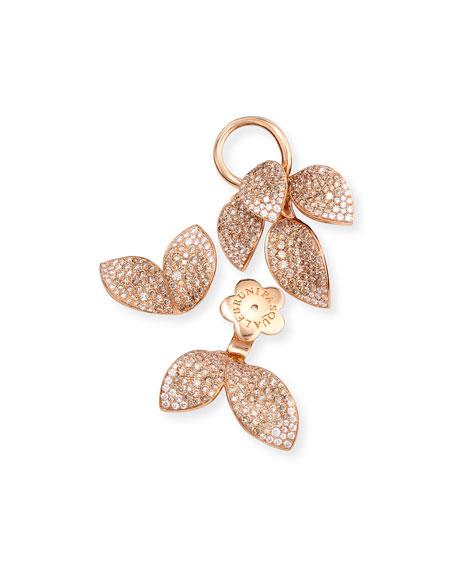 Giardini Segreti Three-Piece Diamond Leaf Earrings