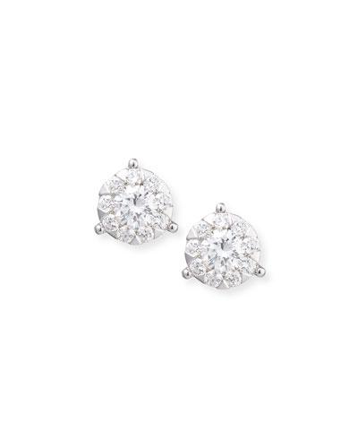 Bouquet 18k White Gold Diamond Stud Earrings