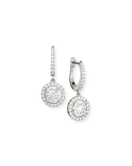 Bouquet 18k White Gold Diamond Dangle Earrings