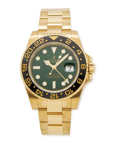 Classic Rolex Men's GMT Master II Gold Watch