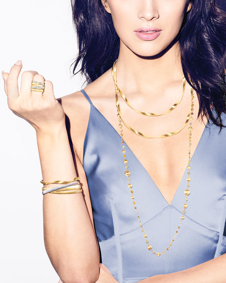 Marrakech Supreme 18k Twisted Bracelet, Yellow Gold